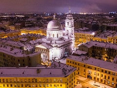 St.Petersburg church of St.Catherine (filchist) Tags: orthodox church catherine stpetersburg russia dji drone night cityscape winter snow city санктпетербург екатерининскаяцерковь зима город дрон видсвысоты архитектура airview architecture