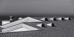 20180504_cayucos_bw_001 (petamini_pix) Tags: california blackandwhite blackwhite bw monochrome grayscale cayucos roof angular angle angles abstract panoramic sea water ocean