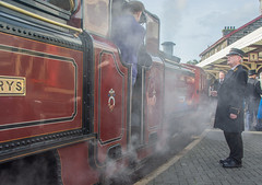 Victorian Gala Porthmadog Station (tramsteer) Tags: tramsteer victorian steamtrain stationmaster porthmadog transport train platform wales ffestiniog narrowgaugerailway