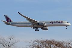 A7-AND   Airbus A350-1041   Qatar Airways (cv880m) Tags: newyork jfk kjfk kennedy aviation airliner airline aircraft airplane jetliner airport a7and airbus a350 35x 3501000 3501041 qatar qatari qatarairways oryx
