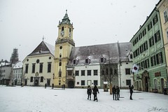 Old Town Hall (danstephen17) Tags: bratislava old town hall slovakia europe architecture square city building winter snow sky clouds people