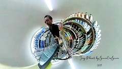 Grocery store - Tiny Planet (SevenOneSeven MamboDan) Tags: grocerystore parkslope brooklyn ricohtheta thetasc theta360 360camera tinyplanet parkslopegrocerystore