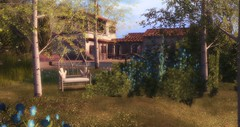 My Home (Osiris LeShelle) Tags: secondlife second life avilion gwynfa home house garden trees tuscany summer