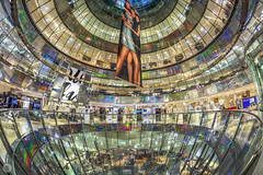 Galeries Lafayette in Berlin [DE] (ta92310) Tags: galeries lafayette automne autumn 2018 galerieslafayette fisheye canon europe architecture jeannouvel allemagne deutschland germany berlin mall travel