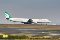 Mahan Air Airbus A-340-600 (Matthisphotography) Tags: airport airplane aircraft paris charles de gaule roissy engines air plane take off iran mahan airbus a340 a346 600 rolls royce trent rr spotter spotting panning tehran green winglet