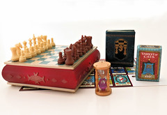 Antique Shop # 4 (MurderWithMirrors) Tags: rement miniature antique mwm chessboard tarot chess book timer