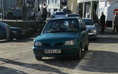 1996 Nissan Micra GX (occama) Tags: n643laf 1996 nissan micra gx blue old car cornwall uk cornish small japanese hatch