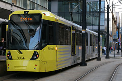 3004, Piccadilly Gardens, Manchester, July 22nd 2010 (Southsea_Matt) Tags: 3004 metrolink vossloh m5000 canon 30d july 2010 summer tram metro lightrail passengertravel publictransport vehicle piccadillygardens greatermanchester england unitedkingdom