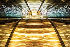Symmetry 1246 (Roxanne Bouche' Overton) Tags: sf2018 roxanneoverton roxanneboucheoverton symmetry escalator sfgrandhyatt grandhyatt california visitcalifornia sanfrancisco sf sfguide 49miles longexposure icm intentionalcameramovement blur motionblur bluronpurpose slowshutter incameraeffects photopainting