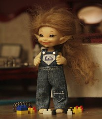 Jeans overalls/dress for Realpuki 1/12 bjd doll (Bayle.V.) Tags: bjd bjdtiny bjddoll bjdoutfit bjddress bjdoveralls bjdjeans realpuki realpukisoso realpukioutfit realpukidress realpukijeans
