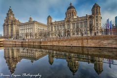 Liverpool skyline (brianfagan) Tags: 6d brianfagan brianfaganphotography canon docks eos liverpool mersey merseyside water liver building architecture reflection
