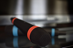 Microphones (roanfourie) Tags: flickrlounge weeklytheme sound sonyplaystation microphone nikon d3400 nikkor prime 35mm f18 dx raw gimp january 2019