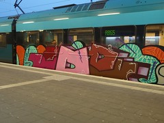 IOR (mkorsakov) Tags: münster hbf bahnhof mainstation zug train rb65 graffiti piece bunt colored oldschool ior