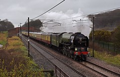Stormy Conditions (garstangpost.t21) Tags: wet dull lancashire garstang woodacre grimupnorth tornado 60163 dbcargo green lner diverted wcml westcoastmainline a1 1z09 carlisle cardiffcentral charter excursion rain pathfindertours