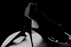 Stiletto Play (1300 Photography) Tags: nikon z6 affinityphoto affinity 50mm blackwhite blackandwhite female woman lady sexy beautiful model boudoir bodyscape lowlight lingerie