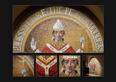 Blessed are the Peacemakers (S.R.Murphy) Tags: mosaic polyptych blessed peacemaker religion religiousart religiousicon york yorkminster yorkcathedral art publicart fujifilmx100t lightroomcc october2018