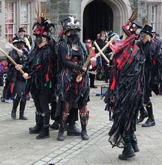 Styx of Stround Border Morris Dancers DSC05982cr (rowchester) Tags: styx stround border morris dancers costume headdress hat stick feather badge tavistock children need event pudsey