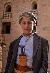 At Thula Village (Rod Waddington) Tags: middle east yemen yemeni young man thula village traditional tribe tribal jambiya portrait outdoor