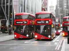 AL LT7 LTZ1007 - ML LT99 LTZ1099 - VICTORIA - FRI 16TH NOV 2018 (Bexleybus) Tags: victoria street wrightbus nbfl new routemaster boris bus borismaster arriva london metroline tfl route 38 24 lt7 ltz1007 lt99 ltz1099