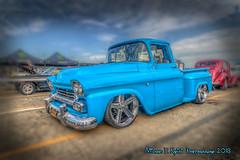 1958 Chevy Apache (with really big wheels) (Michael F. Nyiri) Tags: hotrodmagazinecarshow pomonaca carshow automobiles truck customcars