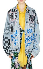 Balenciaga Graffiti-Print Denim Oversized Jacket (katalaynet) Tags: follow happy me fun photooftheday beautiful love friends