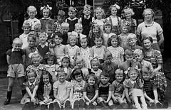 Class photo (theirhistory) Tags: boy children kids girls school class form group pupils jumper trousers jacket wellies shoes dress skirt teacher rubberboots