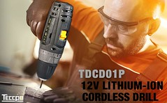 🎁Merry Christmas🎁 Cordless Drill Driver Sets, TECCPO Compact Drill Lightweight with 2X 2.0Ah Batteries, Fast Charger, 265In-lbs Torque, 20+1 Torque (gardenley) Tags: drill tools handtool market avatar dawn homedecor