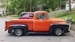Orange Antique Ford F-100 (Joe Shlabotnik) Tags: september2018 orange f100 ford cameraphone galaxys9 2018 pickuptruck faved