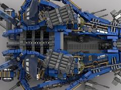 Hyena Fortress Ship v200 (V1) (inside) (demitriusgaouette9991) Tags: lego ldd military armored inside whitebackground