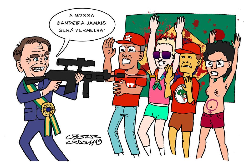 Resultado de imagen para Caricaturas de Jair Bolsonaro