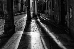 Bologna (marco rubini) Tags: bologna via luci e ombre castiglione portico arcade biancoenero bianco nero black white city