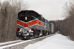 9017 at the Demo Road (jc_canon) Tags: centralmainequebecrailway centralmainequebec cmq bangoraroostook bar cmq9017 cmq9010 cmq3812 job1 emdsd402f emd sd402f barns cpbarns moosehead mooseheadsub demoroad train freight freighttrain bangoraroostookheritage snow signal