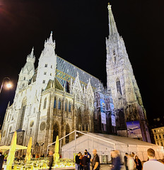 St. Stephen's Cathedral (abhishek.verma55) Tags: ststephen'scathedral vienna ©abhishekverma wien austria monument night flickr photography square stephansplatz travelphotos travelphotography buildings travel famousbuilding europe eurotrip cathedral church famousmonuments famousplaces beautiful nightphotography nightscape colourful colour colorful colors architecture art artistic architectural view panorama architecturelover tower arch fujifilmxt20 dreamvacation evening lights outside exterior facade outdoor oldchurch traveller tourism tourist vacation urbanlandscape urban wanderlust explore exploration