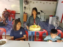 Church birthday celebrations for March 2 (SierraSunrise) Tags: birthdays cake celebrations christian church esarn isaan nongkhai phonphisai thailand