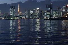 Tokyo Waterfront (Offices) (seiji2012) Tags: 東京 東京タワー 東京湾 夕景 反射 tokyo japan reflection waterfront building tokyotower tokyobay toyosu happyplanet asiafavorites