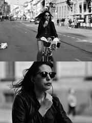 [La Mia Città][Pedala] con bikeMI (Urca) Tags: milano italia 2018 bicicletta pedalare ciclista ritrattostradale portrait dittico bike nikondigitale séta biancoenero blackandwhite bn bw 117216 bikemi bikesharing