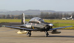 N2860B (GSairpics) Tags: n2860b raytheon t6 t6c texan texanii raf delivery aircrafta eroplane airplane aviation mil military airport gla egpf glasgowairport renfrewshire scotland