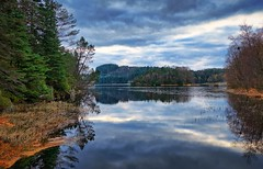 Winter - approaching, Norway (Vest der ute) Tags: xt2 norway rogaland haugesund autumn water waterscape landscape lake reflections mirror trees sky clouds serene afternoon eivindsvatnet fav25 fav200