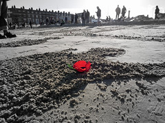 pages of the sea (auroradawn61) Tags: pagesofthesea weymouth dorset uk england november 2018 lumixgx80 remembranceday ww1centenarysand portrait beach sandportrait ww1centenary poppy