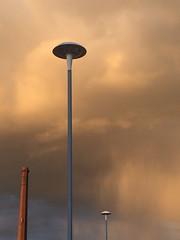 Three (markshephard800) Tags: moody light shadows lamps chimney posts paisley scotland renfrewshire rain sunlit transitional three trois drei