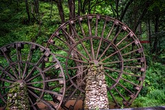 Water Lifters (Rod Waddington) Tags: china chinese yunnan waterwheel waterwheels lifters irrigation traditional landscape