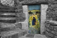 (Jean-Luc Léopoldi) Tags: cutout escalier village porte peinture art pierres