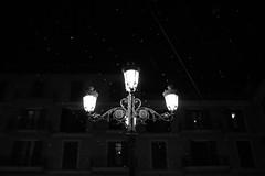 Lights (radoslav.bonev) Tags: bw blackwhite blanconegro spain españa luces lamp lampara night light sky cielo christmas navidad blackandwhite electricity palmademallorca old antiguo streetphotography