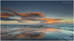 "Sunset Reflection (""A.S.A."") Tags: crimdonbeach cleveland teeside britain beach reflections cloud sunset lowtide sea northeastcoast northsea sonya7rmkii zeissloxia2128 lee105mmpolariser leefilters 06hardgrad asa2018"