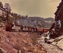 Rio Grande #183 at Cliff, Colorado. (Wheatking2011) Tags: rio grande 183 train exiting south boulder canyon creek is name west bound