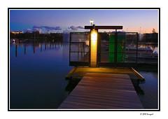 light up (harrypwt) Tags: harrypwt borders framed paintinglike reflections waters pier helsinki finland coastal night light wooden