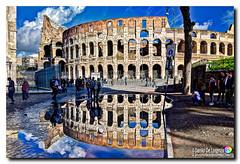 """Colosseo allo """"specchio""""! (danilodld) Tags: hdr2018dldcopyright©danilodelorenzis reflection roma colosseo riflessi storia monumenti water lazio afterrain history cieloromano"""
