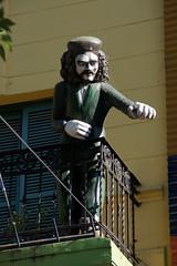 2011-03-20 (14) Argentinien - Buenos Aires - Che Guevara  auf einem Balkon im Stadtviertel 'La Boca' (mike.bulter) Tags: arg argentina argentinien buenosaires cheguevara laboca
