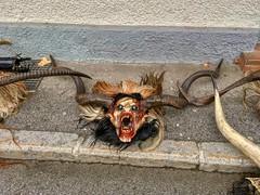 Perchten mask in Kufstein, Tyrol, Austria (UweBKK (α 77 on )) Tags: österreich kufstein tirol tyrol austria europe europa iphone perchten mask maske devil teufel luzifer lucifer dark demon demonic ghost horns tradition traditional culture cultural