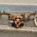Perchten mask in Kufstein, Tyrol, Austria thumbnail